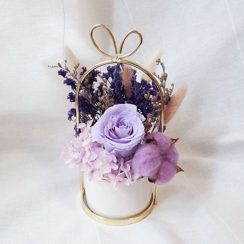 Preserve Flower Vase Magical Violets