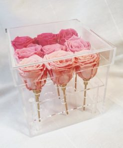 Preserve Flower Acrylic Box Pink Gradient
