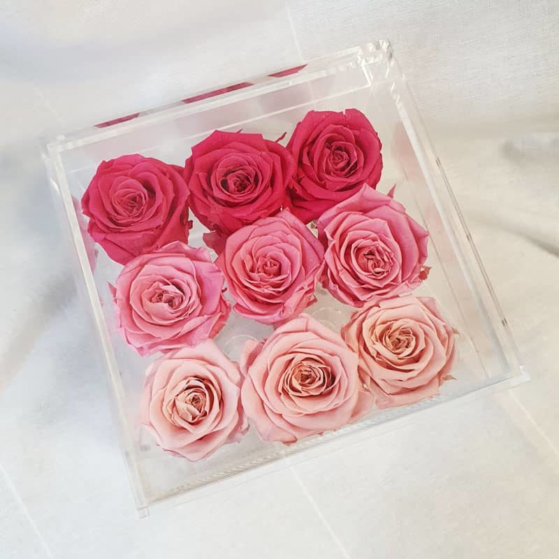 Preserve Flower Acrylic Box Pink Gradients