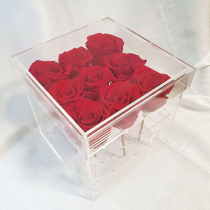 Preserve Red Rose Acrylic Box
