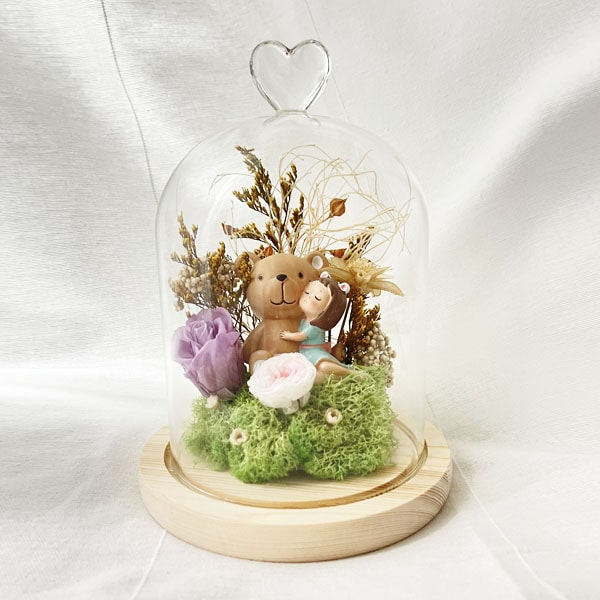 Preserve Flower Belljar Duffy Bear