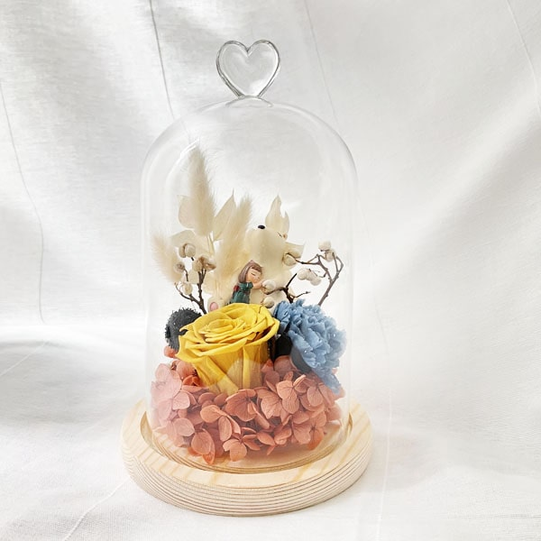 Preserved Flower Belljar Briella