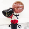 Valentines Rose in Box with Customize Balloon