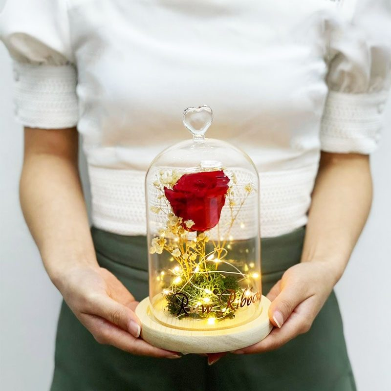 Preserved Rose with led light